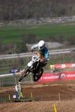 Motocross-jump.World y motocrós europeo Champi Foto de archivo