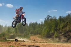 Motocross mistrzostwo 14-15 2016 Maj obrazy stock