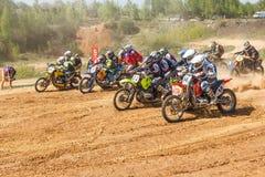Motocross mistrzostwo 14-15 2016 Maj obraz royalty free
