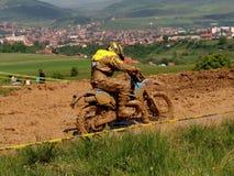 Motocross-Mitfahrer Stockfotografie