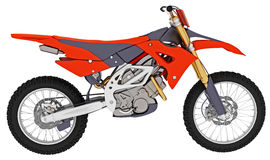 Motocross motorbike Royalty Free Stock Photos