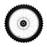 Motocross Motorcycle Front Wheel With Brake Disk Left Side View Graffiti Style Isolated Illustration Stock Photos