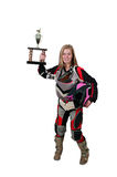 Motocross Motorcycle Girl Royalty Free Stock Photos