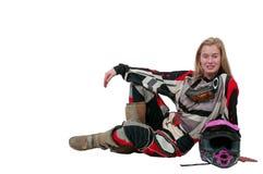 Motocross Motorcycle Girl Royalty Free Stock Image