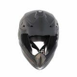 Motocross motorcycle helmet Isolated on white background,black ,shiny carbon fiber Royalty Free Stock Image