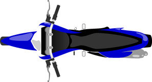 Motocross motorcycle  top view. Classic enduro motocross motorcycle  top view Stock Image