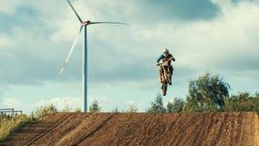 Motocross MX jeźdza jazda na drodze polnej Fotografia Royalty Free