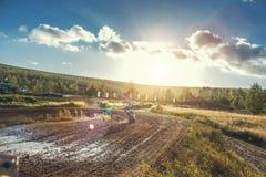Motocross MX jeźdza jazda na drodze polnej Obraz Royalty Free
