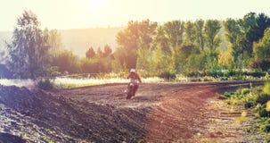 Motocross MX jeźdza jazda na drodze polnej Obraz Stock