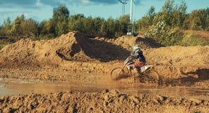 Motocross MX jeźdza jazda na drodze polnej Obrazy Stock