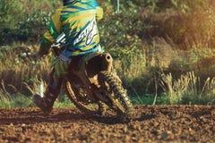 Motocross MX jeźdza jazda na drodze polnej Zdjęcie Royalty Free