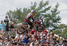 Motocross mx jump Royalty Free Stock Photos