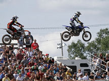 Motocross mx jumpers air Stock Image