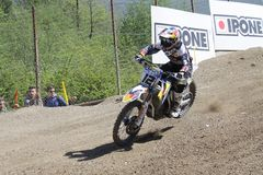 Motocross MXGP Trentino ИТАЛИЯ 2015 Макс Nagl #12 Стоковые Изображения RF