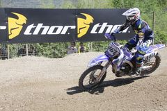 Motocross MXGP Trentino ИТАЛИЯ 2015 Febvre #461 Стоковая Фотография