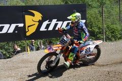 Motocross MXGP Trentino 2015 Cairoli #222 Royalty-vrije Stock Foto's