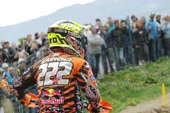 Motocross MXGP Trentino 2015 ITALIË Cairoli #222 Stock Afbeelding