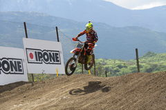 Motocross MXGP Trentino ITALIEN 2015 Cairoli #222 Arkivfoton