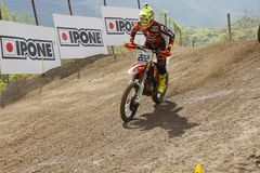 Motocross MXGP Trentino ITALIEN 2015 Cairoli #222 Lizenzfreies Stockfoto