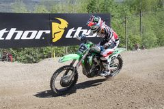 Motocross MXGP Trentino 2015 ITALY Villopoto #2. Ryan Villopoto #2 at Motocross MXGP Trentino 19 april 2015 Royalty Free Stock Photography