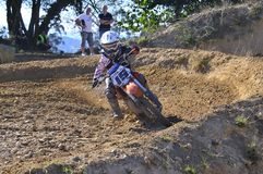 Motocross in Nava, Asturias, Spain. Stock Images