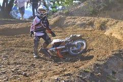 Motocross in Nava, Asturias, Spain. Stock Photo
