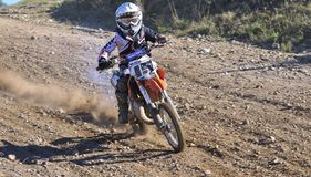 Motocross in Nava, Asturias, Spain. Royalty Free Stock Photography