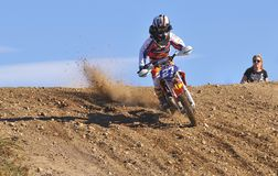 Motocross in Nava, Asturias, Spain. Royalty Free Stock Image