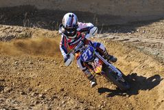 Motocross in Nava, Asturias, Spain. Stock Photos
