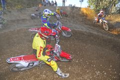 Motocross in Nava, Asturias, Spain. Stock Photography