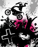 Motocross-Plakat Stockbilder