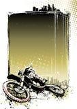 Motocross plakata tło Obrazy Stock