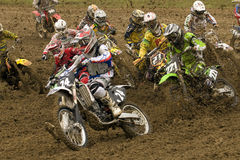 motocross początek Zdjęcia Stock