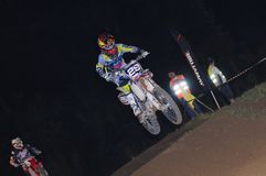 Motocross in Pola de Siero, Asturias, Spain. Royalty Free Stock Photo