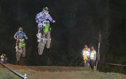 Motocross in Pola de Siero, Asturias, Spain. Royalty Free Stock Photography