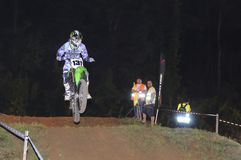 Motocross in Pola de Siero, Asturias, Spain. Royalty Free Stock Image