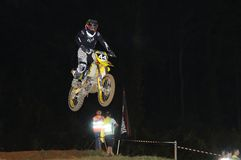 Motocross in Pola de Siero, Asturias, Spain. Stock Photos