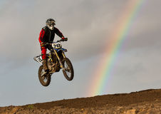 Motocross practise participant in Tain MX, Scotland. Stock Photos