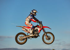 Motocross practise participant in Tain MX, Scotland. Royalty Free Stock Photo