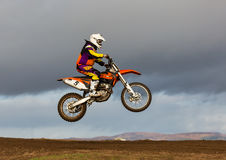 Motocross practise participant in Tain MX, Scotland. Royalty Free Stock Photos