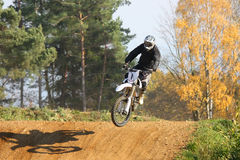 Motocross race. ZABREH, CZECH REPUBLIC - OCTOBER 30. Motocross race called the Zabrezky motocross. Unidentified racer riding a bike. The race went up in Zabreh Royalty Free Stock Images