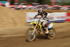 Motocross race. Sprint in dirt track Royalty Free Stock Photography