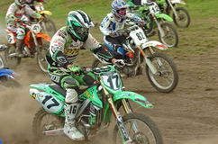 Motocross race. Start at motocross race event on the August 2./3. 2008 in Jessen near Berlin Germany with some  more freestyle stars Royalty Free Stock Photo
