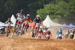 Motocross race Stock Photos