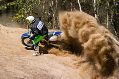 Motocross Race Dust Rider Royalty Free Stock Photo