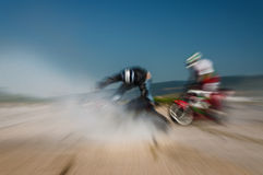 Motocross race impact Stock Images