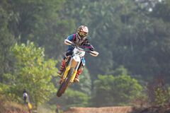 Motocross racer Stock Photo