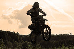 Motocross racer. Racer in action on Motocross track in Germany. Picture taken during practice on May 26th 2016 Stock Photo