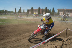 Motocross racer Royalty Free Stock Photography