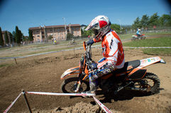 Motocross racer Stock Photography